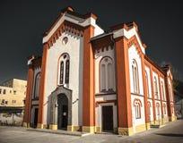 在Ruzomberok,斯洛伐克的犹太犹太教堂 图库摄影