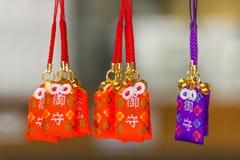 在Ryoanji寺庙的好运灵符在京都 图库摄影