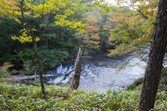 在Ryuzu的早期的秋天下跌,日光,栃木县,日本 图库摄影