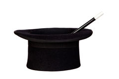 在s向导里面的重晶石帽子 免版税库存图片