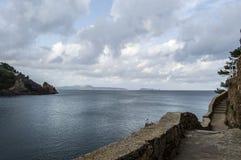 在sa小海湾金枪鱼Begur的步行 库存照片