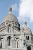 在Sacre Coeur大教堂的特写镜头在巴黎法国 库存图片