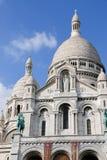 在Sacre Coeur大教堂的特写镜头在巴黎法国 免版税图库摄影