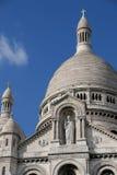 在Sacre Coeur大教堂的特写镜头在巴黎法国 免版税库存图片