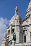 在Sacre Coeur大教堂的特写镜头在巴黎法国 图库摄影