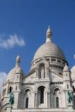 在Sacre Coeur大教堂的特写镜头在巴黎法国 库存照片