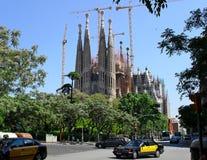 在Sagrada Familie的看法 免版税库存照片