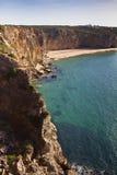 在Sagres的美丽的海滩 库存图片