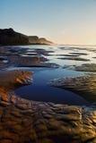 在Sagres的美丽的海滩 库存照片