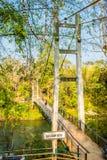 在Sai Yok亚伊瀑布,北碧的河桥梁 免版税库存照片