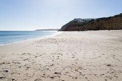 在Salema的海滩 免版税图库摄影