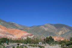 在salta附近的阿根廷横向 免版税库存照片