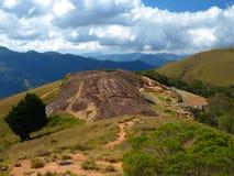 在Samaipata堡垒的岩石适当位置 图库摄影