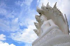 在samakeeboonyaram寺庙的菩萨雕象在lampang,泰国 免版税库存图片