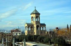 在Sameba主教的座位附近的教堂 免版税图库摄影