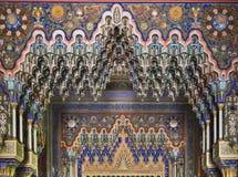 在Sammezzano古老城堡里面的钟乳石天花板在托斯卡纳 免版税库存照片