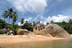 在Samui海岛的珊瑚海滩 免版税库存照片