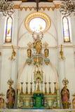 在Samut Sokgkharm的圣母玛丽亚雕象 库存图片