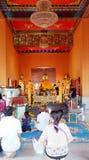 在Samutprakarn的Wat tumru 免版税库存照片