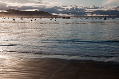 在San Luis Obispo海湾的码头 免版税库存照片