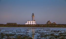 在Sanday,奥克尼的灯塔 免版税库存照片