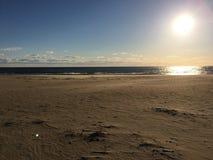 在Sandbridge海滩弗吉尼亚的日出 库存照片