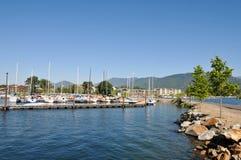 在Sandpoint,爱达荷,庞多雷湖的小船 免版税库存照片