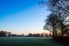 在Sandwell谷国家公园的有薄雾的早晨 免版税图库摄影