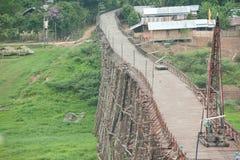在Sangkhaburi的木桥 库存照片