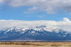在Sangre De克里斯多科罗拉多Mountains的布朗卡峰顶  免版税库存图片