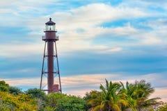 在Sanibel海岛上的灯塔 库存照片