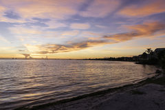 在Sanibel海岛的日出 库存图片