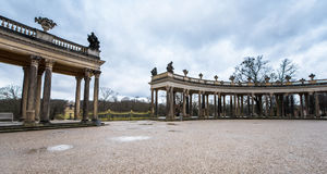 在Sanssouci宫殿公园  免版税库存照片