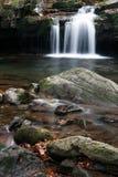 在Satina小河的瀑布 免版税库存图片