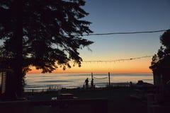 在Sauble海滩的日落 免版税图库摄影