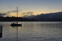 在Sausalito,加利福尼亚的日出 免版税图库摄影