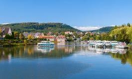 在Saverne的内河港 库存图片