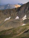 从在Sawatch范围的峰顶12812,大学峰顶原野,科罗拉多 免版税库存图片