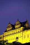 在schloss日出的德国海得尔堡 免版税库存照片
