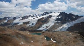 在schnalstal的冰川之上 图库摄影