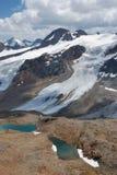 在schnalstal的冰川之上 免版税库存图片