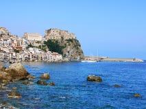 在Scilla,意大利的Chianalea 库存照片