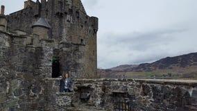 在scottland的Castel 库存图片