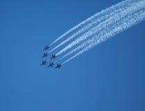 在Seafair的蓝色天使 免版税图库摄影