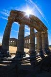 在Segesta,西西里岛的老希腊寺庙 免版税库存照片