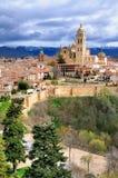 在Segovia,西班牙老镇的一个看法  免版税库存图片