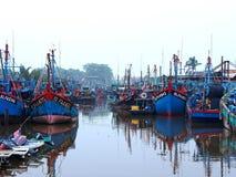 在sekinchan的渔场口岸 免版税库存图片