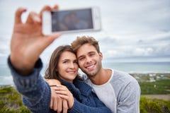 在selfie的爱恋的关系捕获 图库摄影