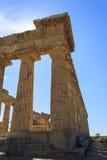 在Selinus的希腊寺庙E在Selinunte -西西里岛,意大利 库存图片