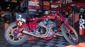 在SEMA的印地安摩托车 免版税库存照片